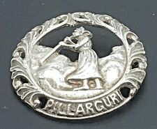 Pillarguri Silver Brooch Pin Ivar T Holt Holth Norwegian Woman Girl Legend 830 S