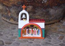 Nativity Christmas Fixed Piece Church Scen Quality Ceramic Set Mexican Folk Art