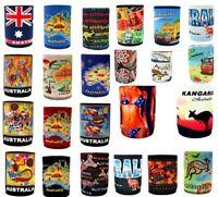 6x Stubby Holder Stubbie Can Beer Bottle Drink Cooler Australia Flag Souvenir
