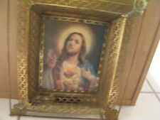 VERY RARE Christ & Mary 1 Frame Picture that shows Christ then Mary when U Move