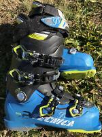 Tecnica 10.5 Ski Boots 25.5 296 Downhill Aspen Snow Blue Green 7-7.5