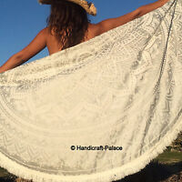 Indian Ombre Mandala Round Tapestry Hippie Beach Throw Bohemian Blanket Yoga Mat