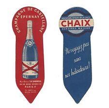 Marque-page publicitaire Indicateurs Chaix/ Champagne de Castellane