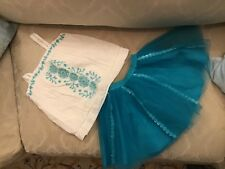 Toddler Girls Size 2/2T OUTFIT BABY GAP/GYMBORE Tourquoise & White Set  NWOT