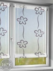 Bändchenrollo Ayle - 120x50cm Gardine Vorhang Fertiggardine