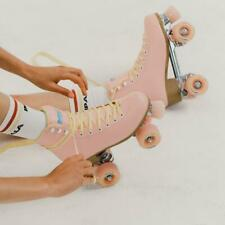 Impala Quad Roller Skates Pink Sidewalk Peta Vegan Size 7 W/ Extra 2pk Stoppers