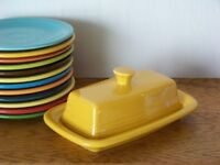 MARIGOLD Fiesta® Extra Large Covered Butter Dish Set Discontinued Color - 1st