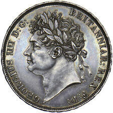 More details for 1821 crown - george iv british silver coin - superb