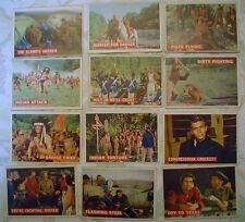 Lot of 12-Davy Crockett Topps Cards 1956-Orange Back