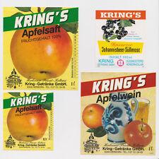 Apfelsaft/Apfelwein/Johannisbeer - Kelterei Süßmosterei KRING Herborn - 80er neu