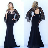 WomenEvening Party  Lace Ball Prom Gown Formal Cocktail Wedding Long Dress
