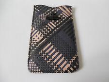 Vivienne Westwood TECHNO TARTAN Mobile Phone CASE BLUE London BLACK ORB