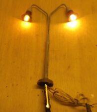 Kahlert H0 Linterna / Lámpara DOS FOCOS Latón Probado