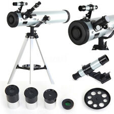 ☆Astronomical Telescope Seben Zoom Enlarge Star Space Tripod Reflector 700X76mm☆