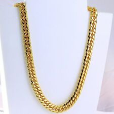 10mm High quality Heavy 24K Gold Plated Huge Miami  Curb Cuban Chain 29 inches