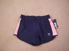 NWT Women's FILA SPORT® Mesh Panel Short Size XSmall Black / Pink FREE SHIPPING!