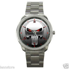 The Punisher Skull Mask Stainless Steel Wrist Watch GIFT NEW