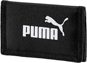 Puma Phase Wallet Black Zip Closure Tri fold