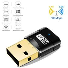 600Mbps Wifi Network Dongle Wifi Adapter 802.11ac Dual Band 5G/2.4GHz For Laptop