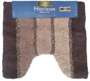Horizons Contour Bath Mat Chocolate by Hyde Park 50 x 50cm.