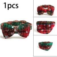 Dog Cat Christmas Printed Adjustable Bow-tie Collar Bowknot GIFT Clothes Ne A2X4