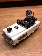 Vintage Japan Mystery Police Car Battery Op Nomura/Shinkosha