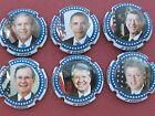 Série 6 NEW. caps. de champagne JP ESPICH, les 6 derniers Présidents Américain