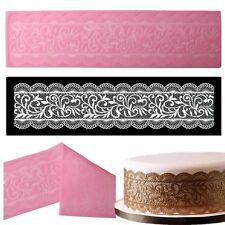 New 3D Lace Mat Silicone Mold Wedding Fondant Cake Decorating Cupcake Tiara Mold