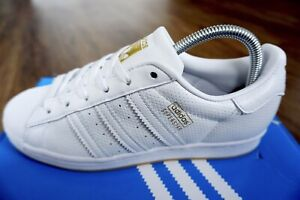 ADIDAS Superstar 50th Anniversary Men's Trainers, Triple White - Size 6