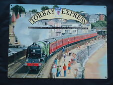 More details for torbay express picture metal sign steam train dawlish sea wall torquay film prop