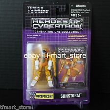 Transformers Heroes Of Cybertron Decepticon SUNSTORM 2004 Botcon HOC ACT PVC