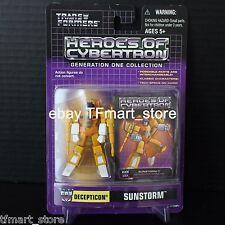 Transformers Heroes Of Cybertron Decepticon SUNSTORM 2004 Botcon HOC ACT PVC