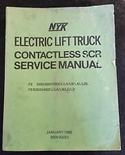 NYK ELECTRIC LIFT TRUCK SERVICE MANUAL