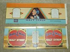 Lot Of 1931 Miller Brewing Company Malt Syrup Labels (Mint & Unused!)