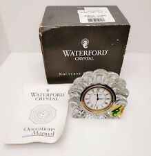waterford crystal shell clock with original box