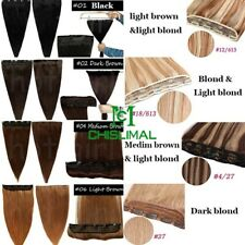 50g Clip In Human Hair Extensions One Piece 5 Clips Hair Weft 3/4 Full Head Long