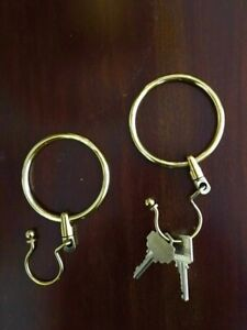 "Key Rings, Solid Brass with Swivel (Jailor's Style), 3"" Diameter"