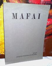 MAFAI       KOLN  Istituto italiano di cultura  1962