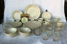 Pfaltzgraff TEA ROSE Made in U.S.A. 36 Piece Set 9 Piece Place Set Service for 4