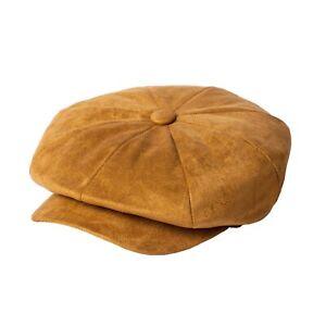 Womens Faux Suede Newsboy Bakerboy Hat Ladies Baker Boy Hat UK