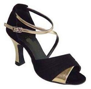 Ladies Latin Dance Shoes Ballroom Salsa UK Size 3 3.5 4 4.5 5 5.5 6 6.5 7 7.5 8
