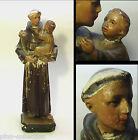 STATUA ANTICA SANT'ANTONIO DI PADOVA AUTENTICA GESSO Gesù Antique Plaster Statue