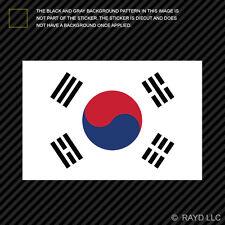"4"" South Korean Flag Sticker Decal Self Adhesive Vinyl South Korea KOR KR"