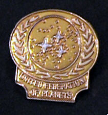 Star Trek UFP Emblem- Gold Cloisonne Pin-Lincoln Enterprises (STPI-2504)