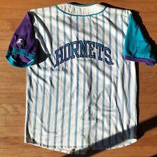 Charlotte Hornets NBA Vintage Starter Pinstripe Baseball Jersey Men's Large