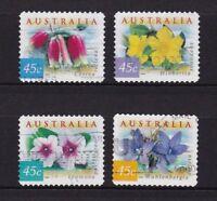 AUSTRALIA 1999 COASTAL FLOWERS (SELF ADHESIVE) COMP. SET OF 4 STAMPS FINE USED