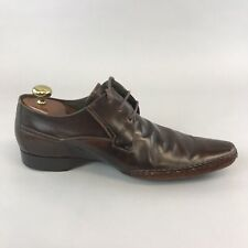 Russell & Bromley Brown Patent Leather Lace Up Smart Casual Dress Shoes 44 UK10