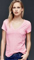 GAP Women's Vintage Wash Print V-Neck Tee Tops Pink/Blue S/M/L/XL/2XL sizes NWT