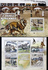 Sao Tome & Principe-Wild animals off Africa-1M/Sh.+1S/Sh.,MNH**.STP146