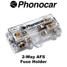 Phonocar 4/497 2-Way AFS Fuse Holder Accepts 4AWG Input and 8AWG Output